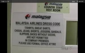 malysia air dress code