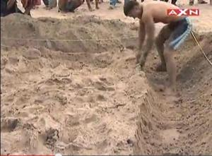 sandy trench