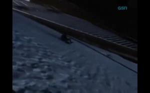jon sliding on hill