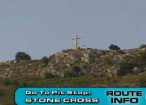 croatia stone cross