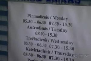 lithuania schedule