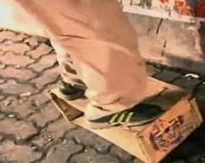 india ronald cardboard