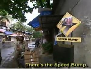 india speed bump
