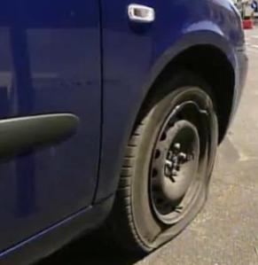 italy flat tire