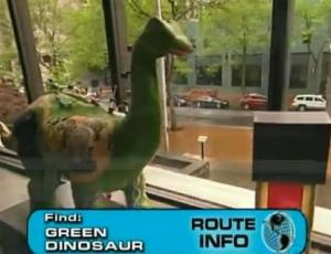 portland green dinosaur