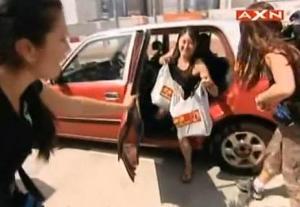 hong kong shopping bag lady