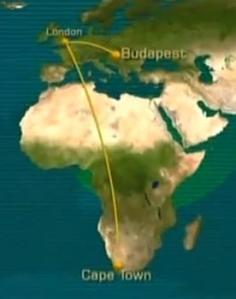 africa flight path