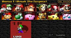 super smash bros break the targets