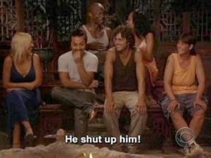 he shut up him