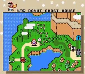 super mario world donut ghost house