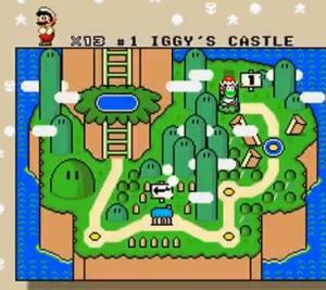 super mario world iggys castle