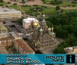 russia church on spilled