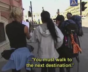 russia walk