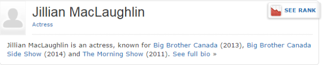 jillian imdb