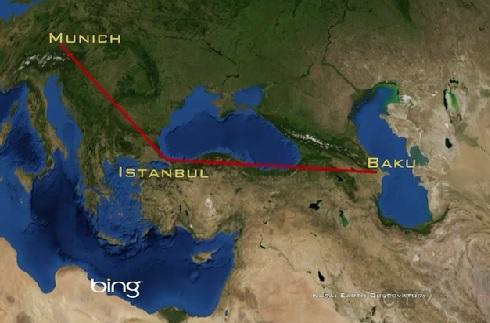 baku flight path
