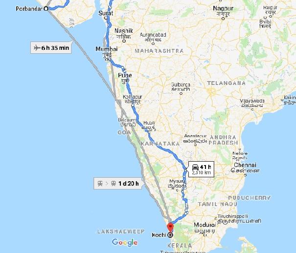 gandhi map